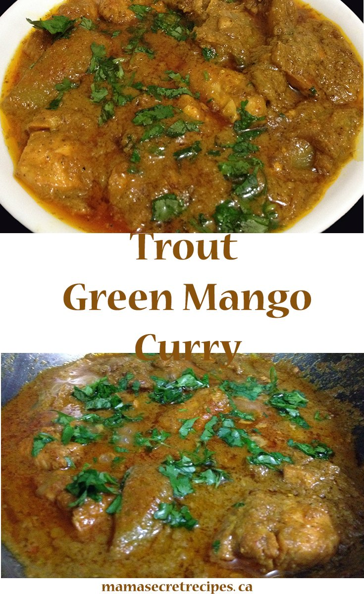 trout green mango curry
