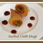 stuffed chilli bhajjis
