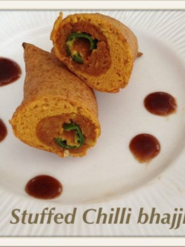 stuffed chilli bhajji