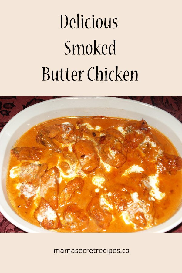 delicious smoked butter chicken