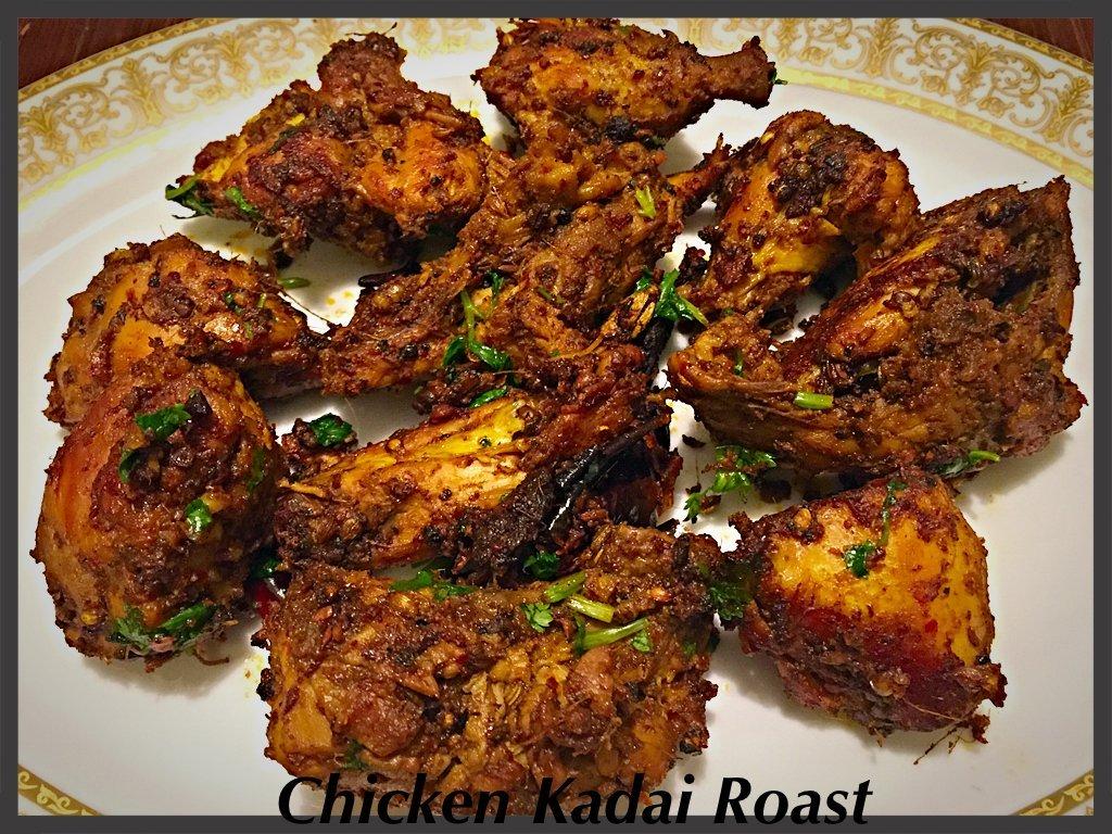 chicken kadai roast