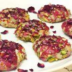 Pistachio rose love cookies