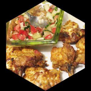 neza kebab with salad
