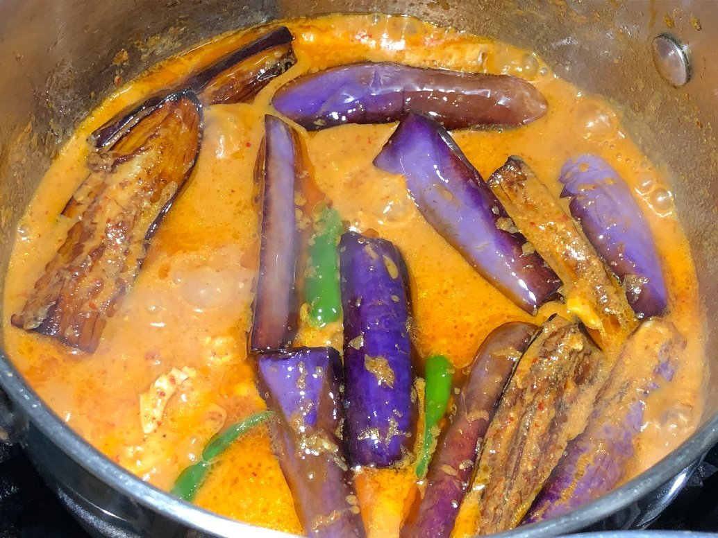 thai fish curry eggplant