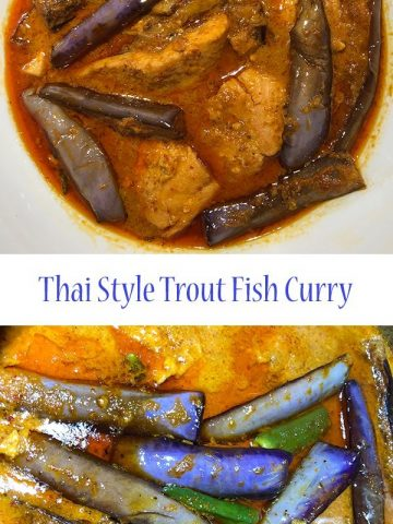 thai style trout fish curry