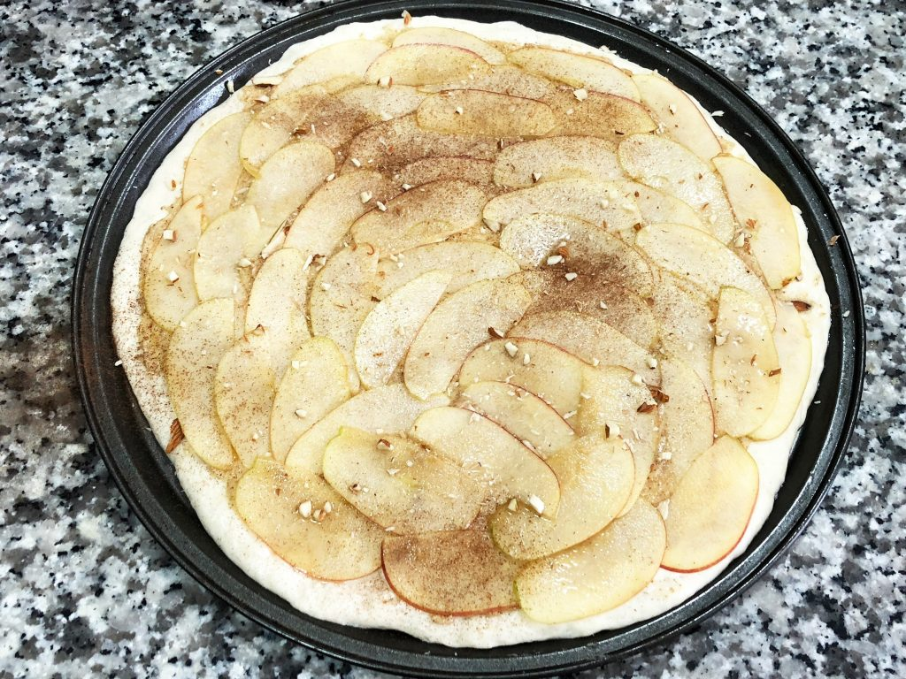 Apple Almond Cream Focaccia