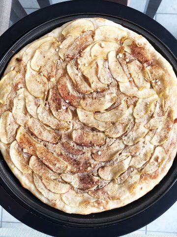 apple almond cream focaccia
