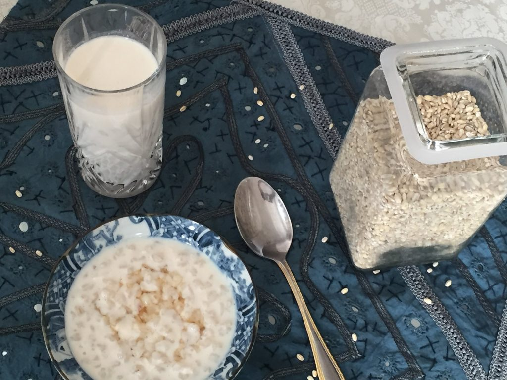 talbina, barley porridge
