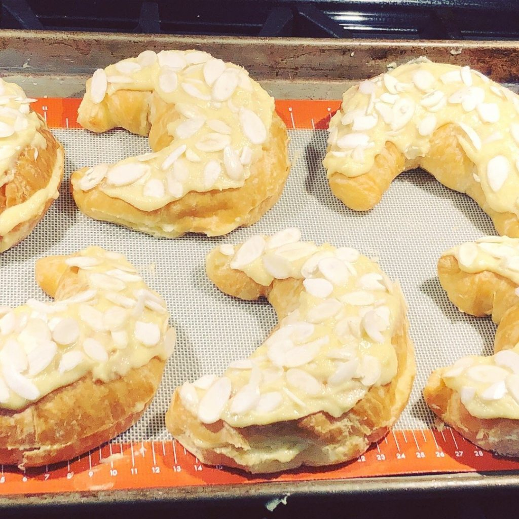 almond croissants with almond butter cream