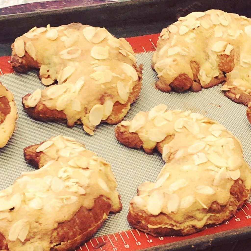 Almond Croissants double baked