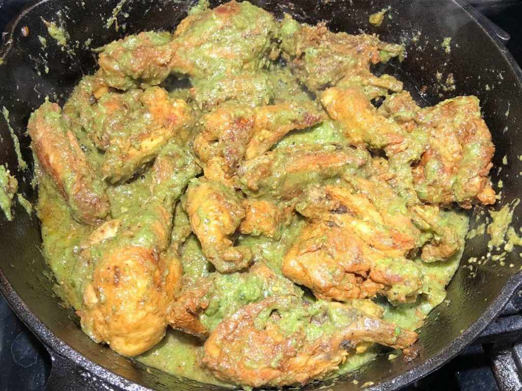 green cilantro fried chicken