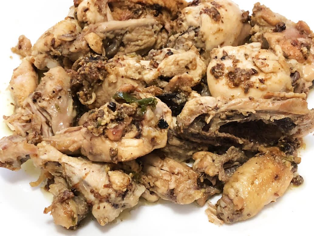 Fiery garlic chicken