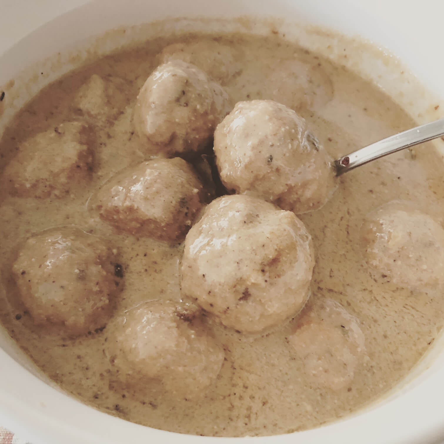 badami (almond) chicken kofta curry