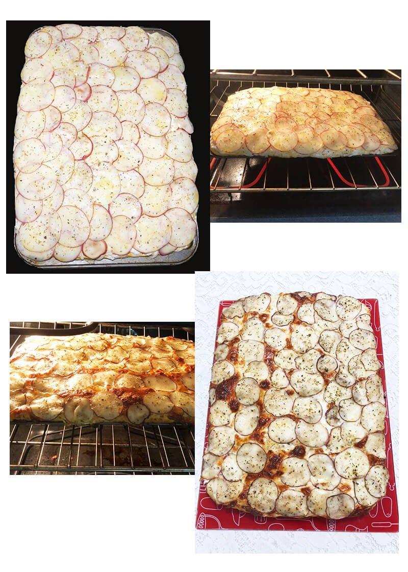 baked pumpkin focaccia bread