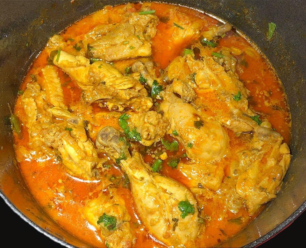 traditional madrasi chicken korma