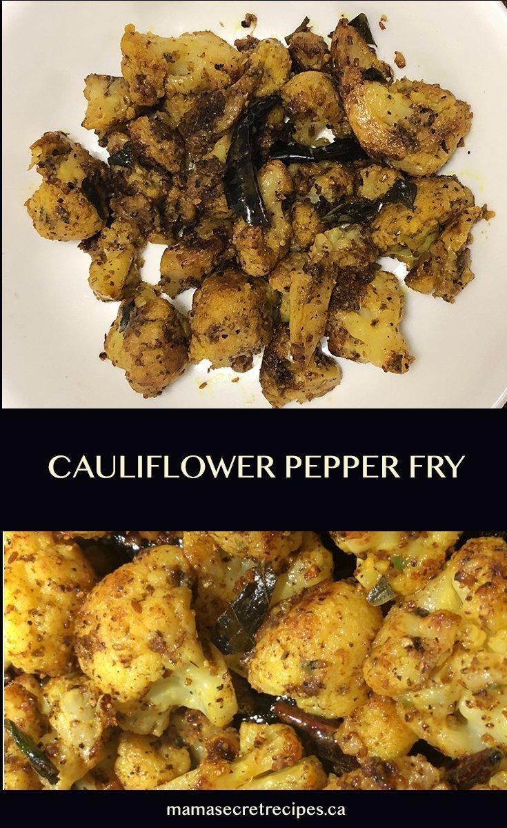 Cauliflower Pepper Fry