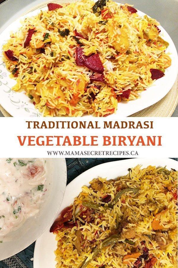 madrasi vegetable biryani