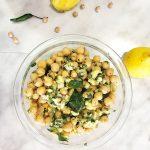 chickpea mango sundal salad