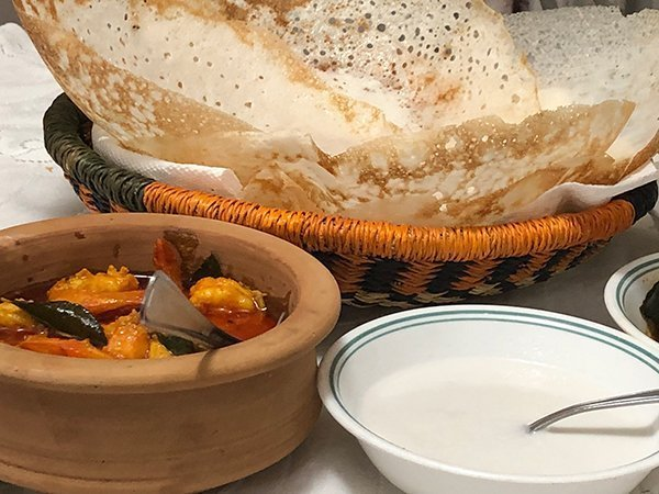 shrimp curry with appam