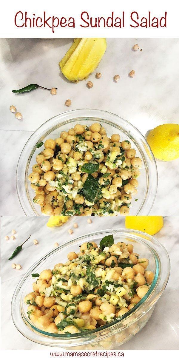 chickpea sundal salad
