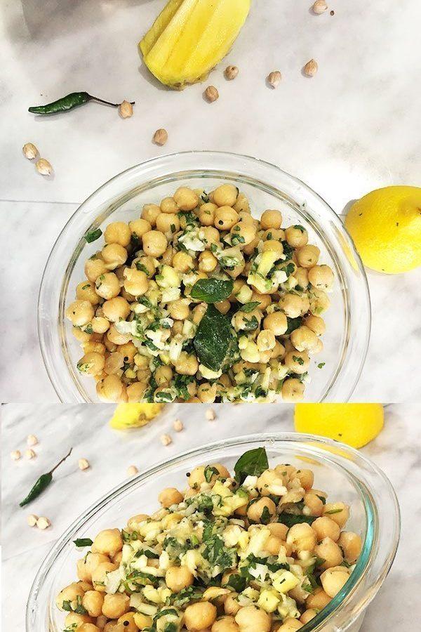 chickpeas sundal salad