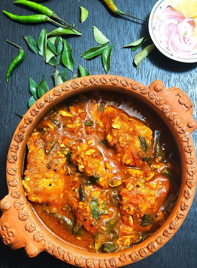 tomato trout curry