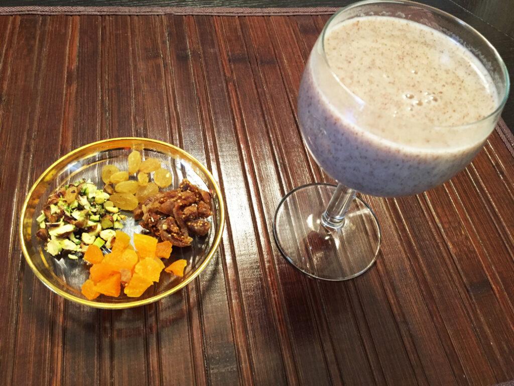 ragi harira and nuts